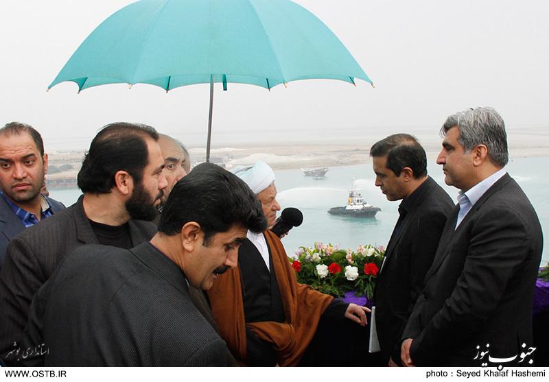 از ميزباني آيت الله رفسنجاني در بوشهر تا بدرقه در تهران