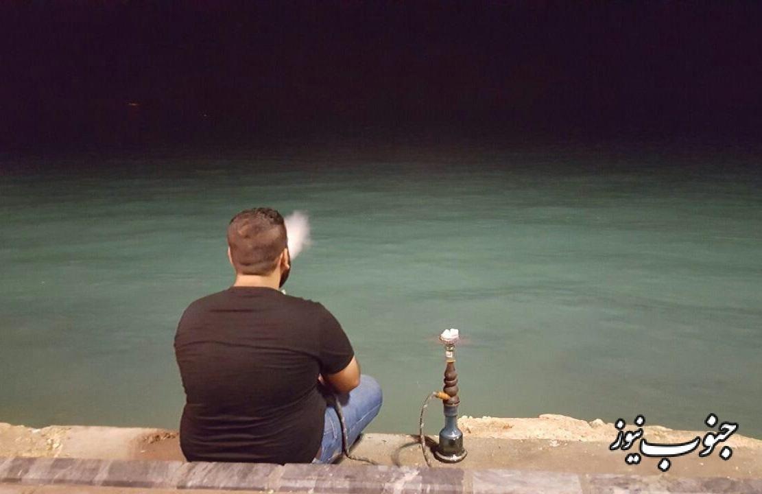 تفریح جوانان بوشهری با طعم دود و قلیان +عکس